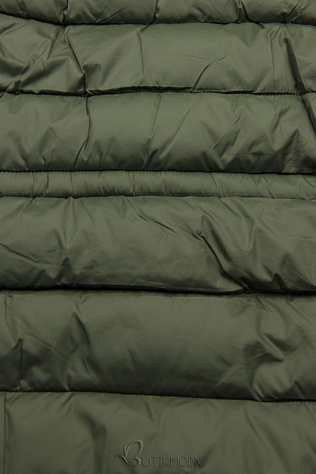 Parka de iarnă reversibilă kaki/verde