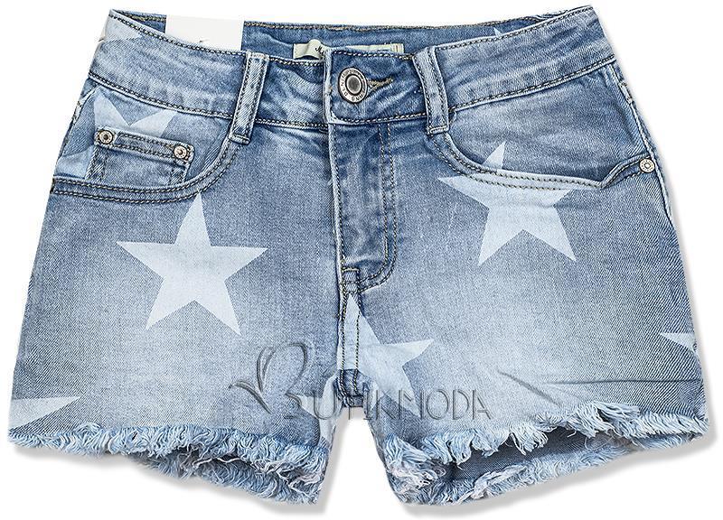 Pantaloni scurți denim cu imprimeu