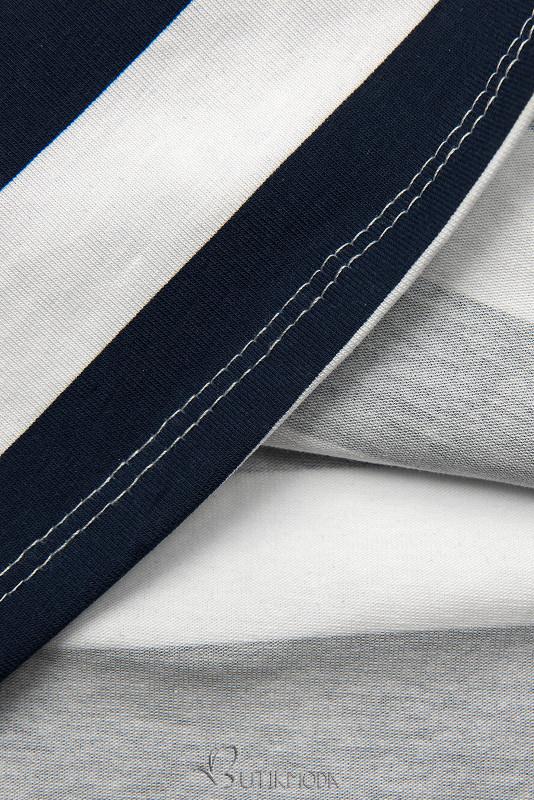 Rochie cu dungi albastră-albă XX.