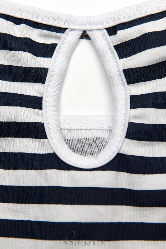 Rochie cu dungi albastră-albă II.