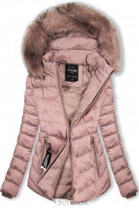 Geacă roz vechi pentru toamnă/iarnă