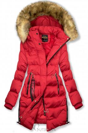 Geacă de iarnă prelungită roșie