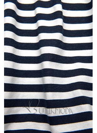 Rochie albastru-alb evazată cu dungi II.