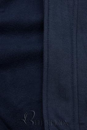 Hanorac bleumarin în croială asimterică